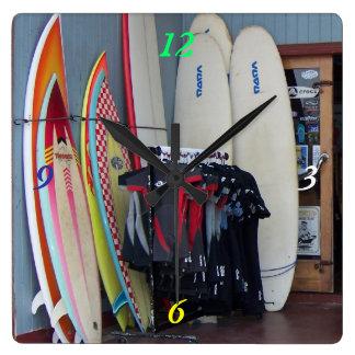 Surfin Australien Fyrkantig Klocka