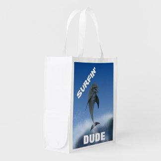 Surfin Dude Återanvändbar Påse