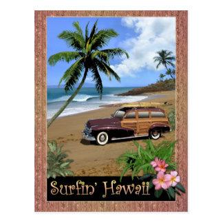 Surfin Hawaii Vykort