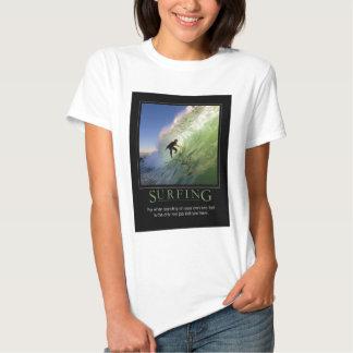 Surfing_Demotivational affisch Tee Shirt