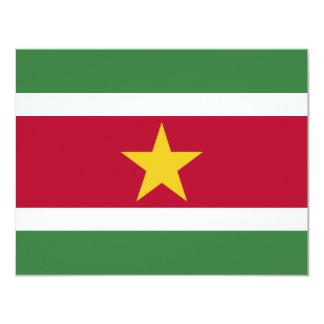 Surinam flagga 10,8 x 14 cm inbjudningskort