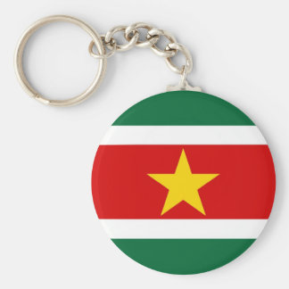 Surinam flagga rund nyckelring
