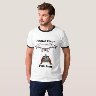 Surr som är pilot- för hyrat-skjorta tee shirts