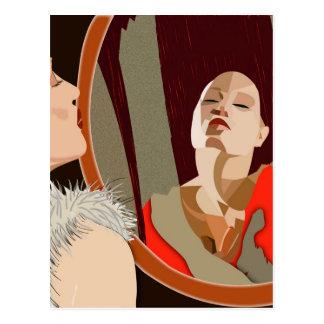 Surrealistic kvinna vykort