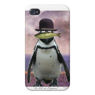 Surrealistisk pingvin iPhone 4 hud
