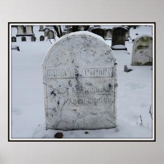 Susan B. Anthony Grav gravsten Poster
