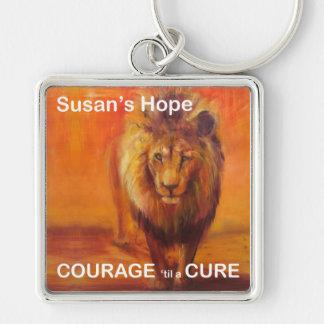 Susans hoppnyckelring fyrkantig silverfärgad nyckelring