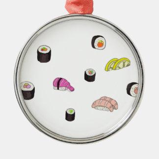 Sushi och Sashimi Julgransprydnad Metall