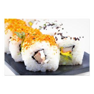 Sushi på en plätera fototryck