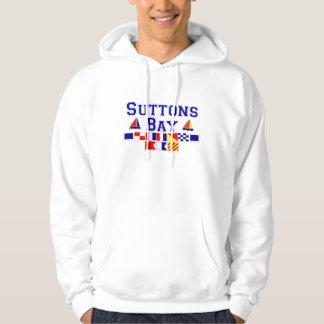 Suttons fjärd, MI - nautiskt stava för flagga Sweatshirt