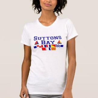 Suttons fjärd, MI - nautiskt stava för flagga T Shirts