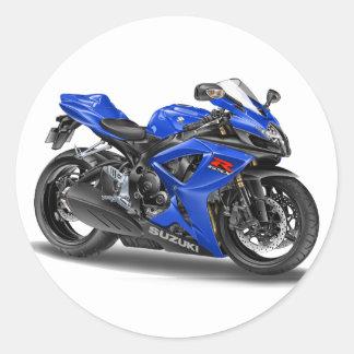Suzuki GSX-R600 blåttcykel Runt Klistermärke