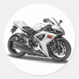Suzuki GSX-R600m vitcykel Runt Klistermärke