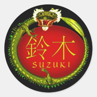 Suzuki Monogramdrake Runt Klistermärke