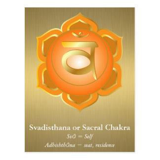 Svadisthana eller Sacral Chakra vykort