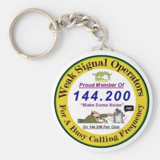 Svagt signalera logotypen Keychain Nyckel Ring