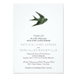 Svala (boktryckstil) 12,7 x 17,8 cm inbjudningskort
