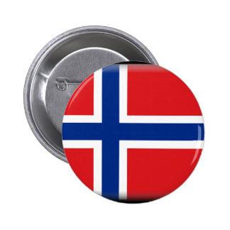 Svalbard (norge) flagga knapp med nål