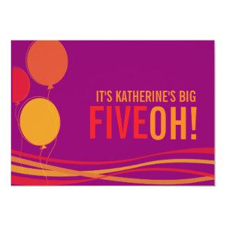 Svälla 50th FIVEOH! fotofödelsedaginbjudan 12,7 X 17,8 Cm Inbjudningskort