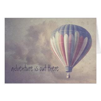 Svälla den Retro himmelvintageluftballongen Hälsningskort