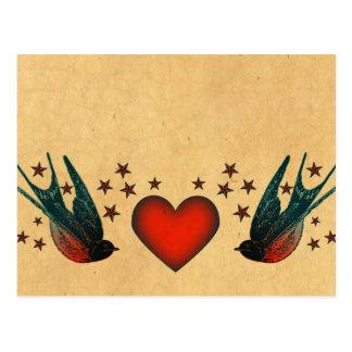 Svalor och stjärnor vykort