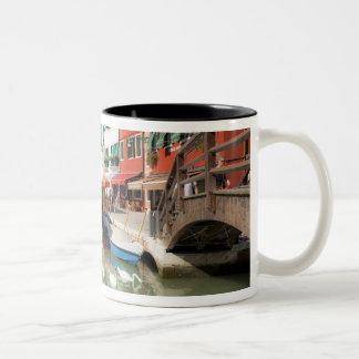 Svanar i kanalen, Burano ö, Venedig, italien 2 Två-Tonad Mugg