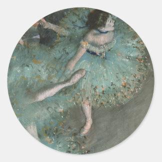 Svänga dansare - Edgar Degas Runt Klistermärke