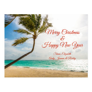 Svänga palmträdgod julvykortet vykort