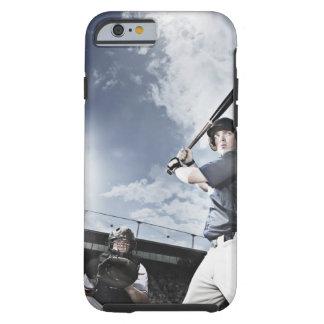 Svängande baseballfladdermöss för basebollspelare tough iPhone 6 case