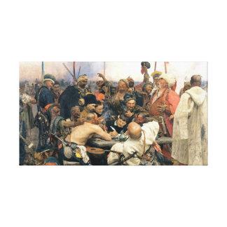 Svar av de Zaporozhian cossacksna Canvastryck