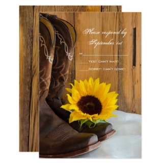 Svar för bröllop OSA för landsolros westernt 8,9 X 12,7 Cm Inbjudningskort