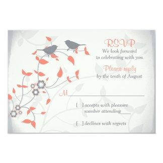 Svar för bröllop OSA för löv för fåglar för 8,9 X 12,7 Cm Inbjudningskort