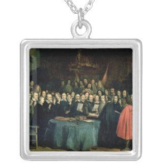 Svära av eden av Ratification Silverpläterat Halsband