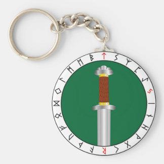 Svärd av Tyr Keychain Rund Nyckelring