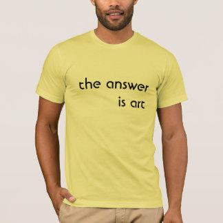 svaret är konst tee