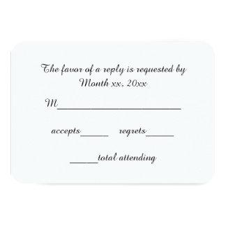 Svarskort skrivar OSAN för bröllop 8,9 X 12,7 Cm Inbjudningskort