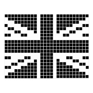 Svart 8 bet flagga för facklig jack för PIXEL Vykort