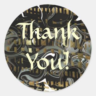 Svart abstrakt tack!