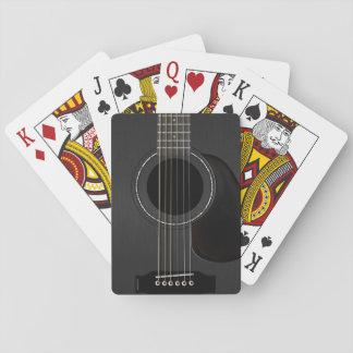 Svart akustisk gitarr spelkort