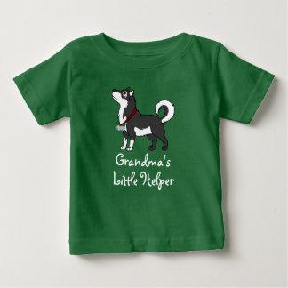 Svart alaskabo Malamute med silverklirr Klockor T-shirts