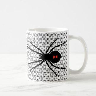 Svart änka kaffemugg