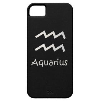 Svart AquariusZodiac Januari 20 - Februari 18 iPhone 5 Hud