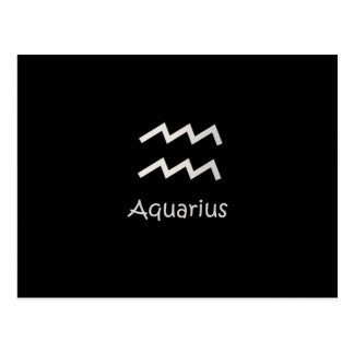 Svart AquariusZodiac Januari 20 - Februari 18 Vykort