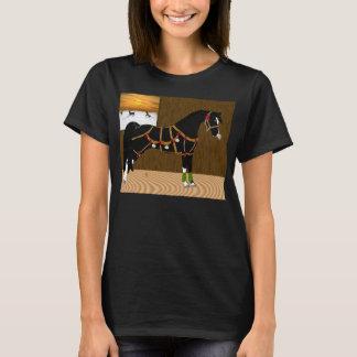 Svart arabisk hästjul tröjor