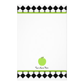 Svart Argyle grön Apple personliglärare Brevpapper
