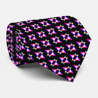 Svart bakgrund för galna trianglar slips