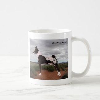 Svart Basenjaloosa Kaffemugg