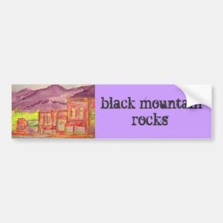 svart bergstenar bildekal