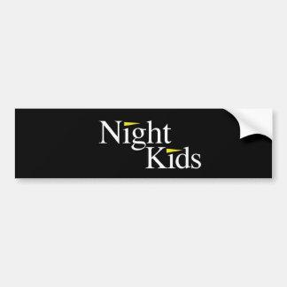Svart bildekal för nattungar