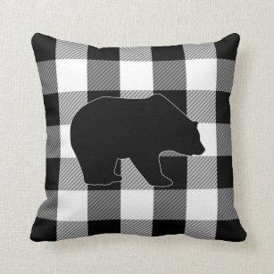 Svart björn för pläd för Lumberjack för Kudde 80c66b45b4888